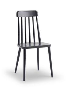 FARM, Stuhl aus Buchenholz, mit senkrechten Rückenlehnen