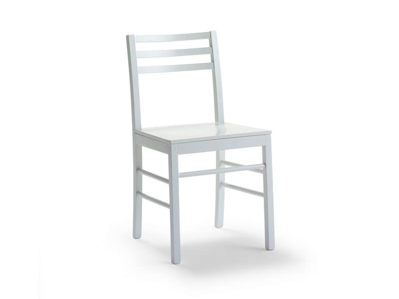 FOGGIA3, Stuhl in lackiert oder lackiert Buche