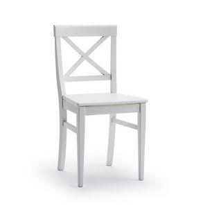 MILADY, Stuhl mit Kreuz Rückenlehne, in Eschenholz