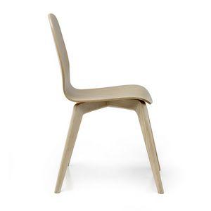 Milù Wood, Holzstuhl mit klarem Design