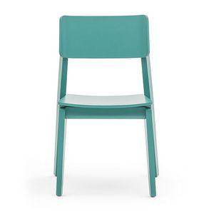 Offset 02811, Stuhl aus Massivholz, in der modernen Art