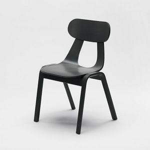 Rapa Wood, Moderner Stuhl aus Holz, stapelbar