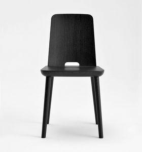 Tablet, Holzstuhl mit linearem Design