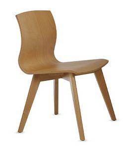 WEBWOOD 357, Stuhl ganz aus Buchenholz