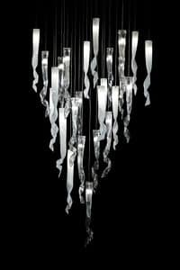 Comete hängende Lampe, Kronleuchter aus Muranoglas