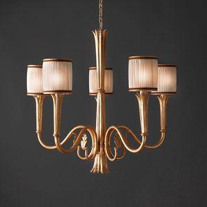 RIALTO HL1059CH-5, Lampdario mit goldenen Oberflächen