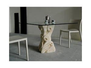 Apollo, Tisch mit Sockel aus handgeschnitzten Vicenza Stein