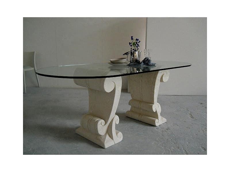 Eliseo, Tabelle mit zwei Basen in Stein gemeißelt