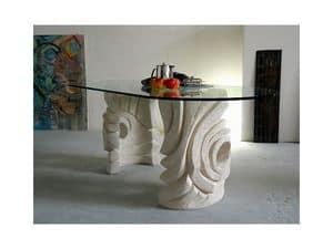 Niagara, Ovale Steintisch für zu Hause oder im Büro