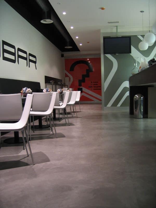Rendered concrete resin floors for bars, Harzböden, ideal für Lounge-Bars