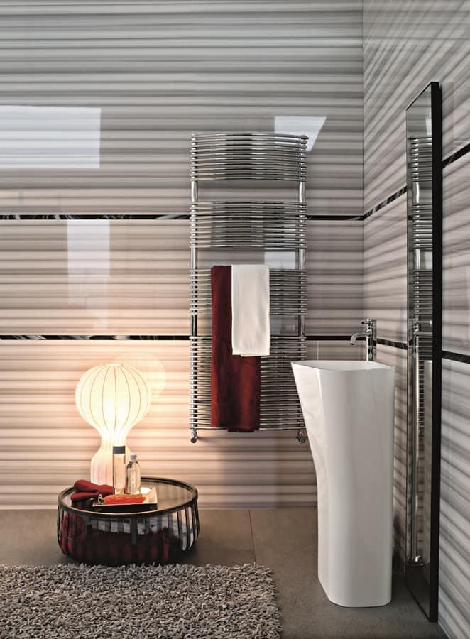Bath gebogen, Verchromte Kühler für Badezimmer