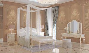 Carlotta Bett, Himmelbett aus Holz