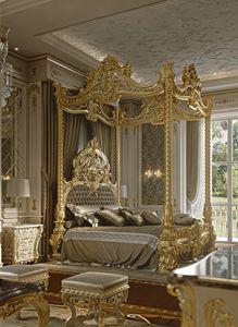 M05 Bett mit Baldachin, Wunderschönes Himmelbett