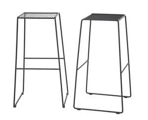 Art.Easy 2, Barstuhl aus pulverbeschichtetem Stahl, Cantilever-Basis, extern