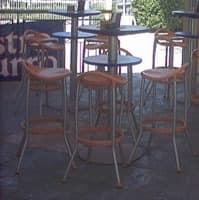 Max cod. 16 cod. 19, Moderne Barhocker für Outdoor-Restaurant und Bar