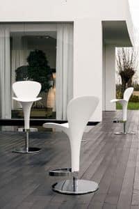 OSLO, Moderne Barhocker für den Außenbereich, verstellbar, für Kneipen