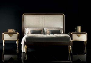 DIAMANTE Bett, Bett mit Beinen in Form eines Diamanten