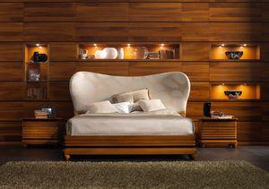 Elettra Art. EL015T, Bett mit gepolstertem Kopfteil mit abgerundeten Formen