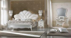 Giulietta Art. 3302 - 3304, Bett mit klassischen Linien