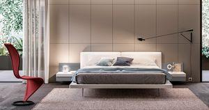 GIULIETTA, Bett mit eingebauten Nachttischen