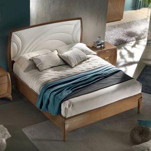 Luna LUNA5177-160, Geschwungenes Bett mit Polsterung