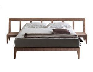 Magic Dream 2889/F, Holzbett mit im Kopfteil integrierten Nachttischen