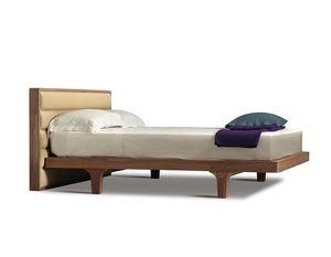 Malibù 2894/F, Bett mit gepolstertem Kopfteil