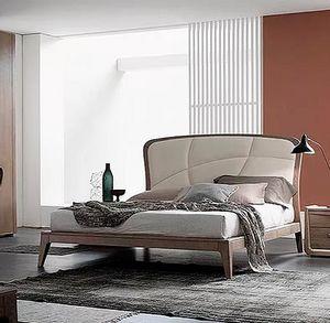 Plus, Bett mit weich gepolstertem Kopfteil