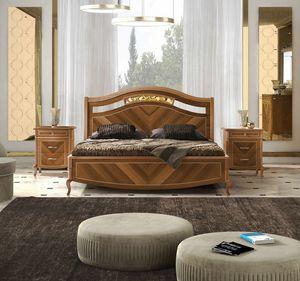 Prestige 2 Art. 4302, Walnussbett mit Einlagen