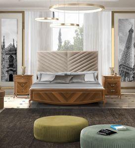 Prestige 2 Art. 4322, Bett mit eingelegtem Trittbrett