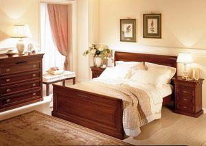 Romantica Bett, Holzbett im klassischen Stil