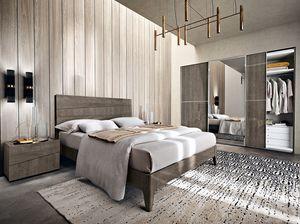 Tekno Bett, Bett mit dynamischen und entschiedenen Linien