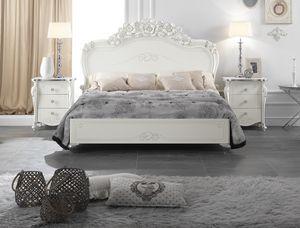 Viola Bett, Elegantes geschnitztes Bett