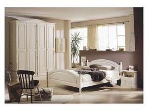 Collection Marta Bedroom, Möbel für Hotelzimmer in massivem Kiefern