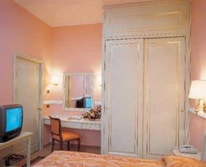 Hotel Residence Romana, Möbel für Hotelzimmer, Bett, Schrank, Schreibtisch mit Spiegel, TV-Ständer