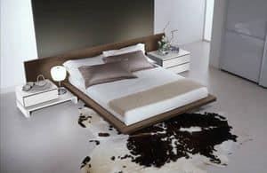 Schlafzimmer 14, Möbel für die Schlafzimmer, modernes Bett mit einem großen Kopfteil