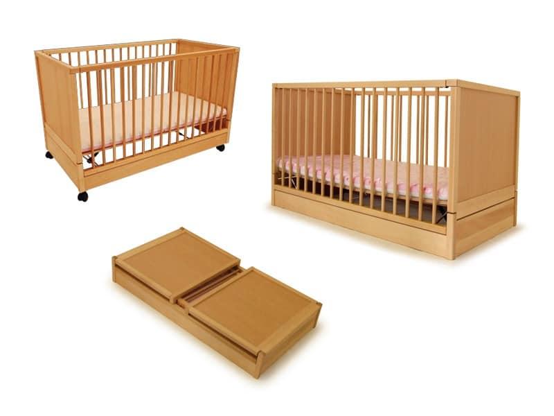 DURMI', Kinderbett für Kinder, siegelfähige, für Kinderzimmer