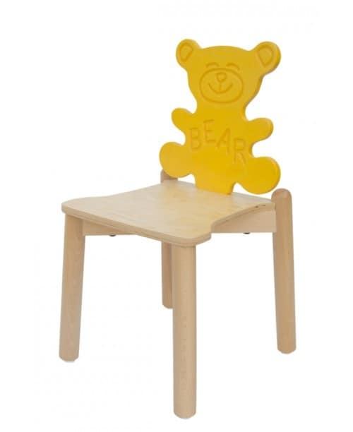 ANIMALANDIA - Bear, Lustige Kinderstühle, Rückenlehne mit Tieren Form