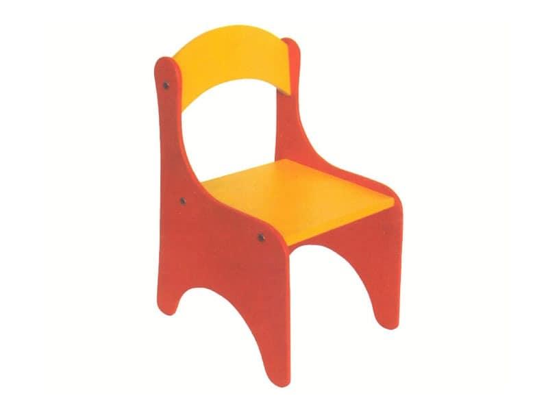 ARIEL, Bunte Kinderstuhl, zerlegbar, für den Kindergarten