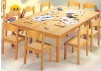 HEIDI, Stapelstuhl für Schule und Kindergarten, aus Buchenholz