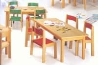 MINNIE, Chair in Holz, ungiftigen Farben, für Schulen und Kindergärten