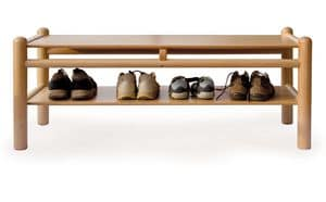 PANCA 920 P2, Kinderbank mit Schuhschrank, HolzstrukturBuche