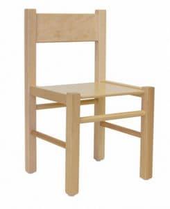 QUADRA, Stuhl in Buche, in einfachen Stil, für Kinder