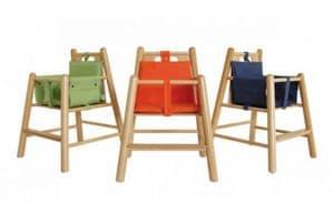 RONDÒ, Gepolsterten Stuhl in Buche, mit runden Beinen