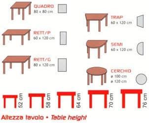 Tavolo componibile, Modulare Tische, aus Buchenholz, für Kindergarten und Schule