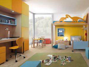 Boxer 9001, Kinderschlafzimmer mit Etagenbett