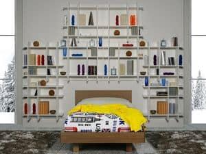 Climb Jungs 08, Schlafzimmer für Kinder mit Bibliothek