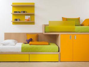 Compact 7050, Bett mit Einbauschrank