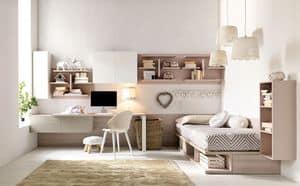 Comp. New 136, Zimmer mit weichen Farben für Mädchen, ordentlich Räume