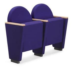 ARAN 581, Sessel für Auditorium mit gepolsterten Rahmen